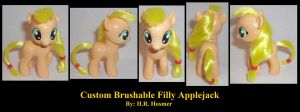 Filly Applejack Brushable by Gryphyn-Bloodheart