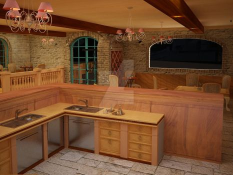 French Style coffee shop 03 by Linaerlight