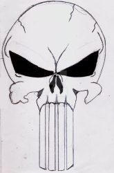 Punisher Skull by UnicronHound