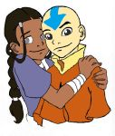 Aang and Katara Hugging by bigpurplemuppet99