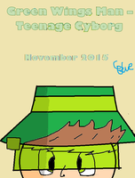 Teaser - Green Wings Man -Teenage Cyborg by OffClaireBlue2001