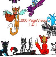 1000 pageviews by MightystarEL