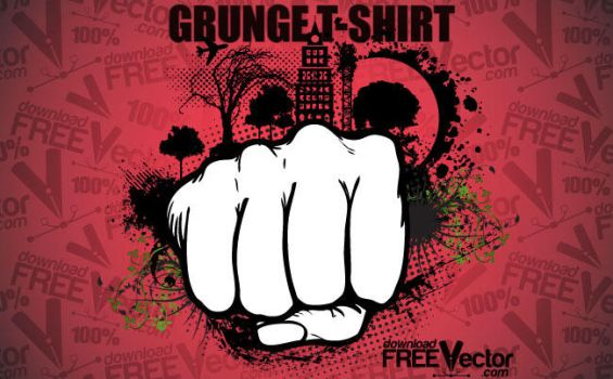 Vector Grunge T-shirt by downloadfreevector