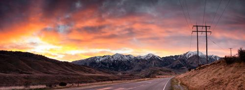 First Light Southern Alps by Capturing-the-Light