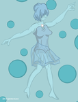 Blue Pearl Print by xDarkNecroFearx