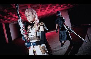 Noctis x Lightning: Beyond The Crimson by Tiburonsama