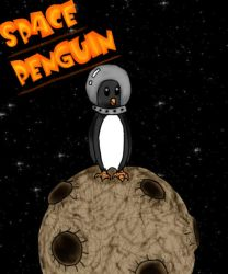 Epic Space Penguin by Aureawolf