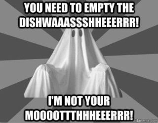 Nagging Roommate Ghost - Dishwasher by PlayboyVampire