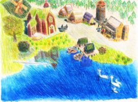 Age of Empires III village by CutePigTail