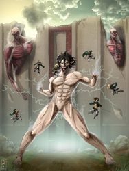 Attack on Titan Poster by TheAngryAron
