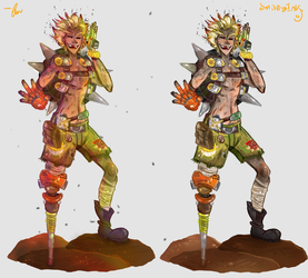 Clunk gunk child of junk by Smiley-Ink