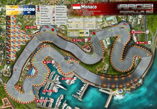 Race! Formula 90 Expansion #1 Monaco track by Erebus-art