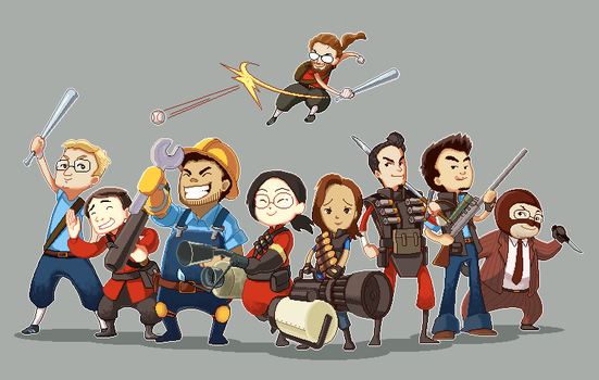 Team Fortress Team :D by tiggerfactory