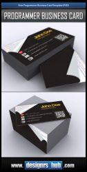 Free Business Card PSD Template for Programmer by MGraphicDesign