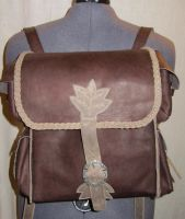 Custom Leather Back Pack by EarthlyLeatherDesign