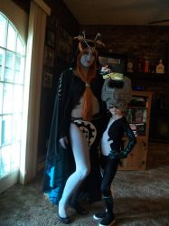 Both Midna forms from Twilight Princess by AkiKogenho1