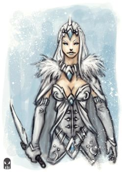 Snowqueen Sketch by MAROK-ART