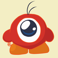Waddle Doo (Basic Enemy in Kirby Series) by Eriniin