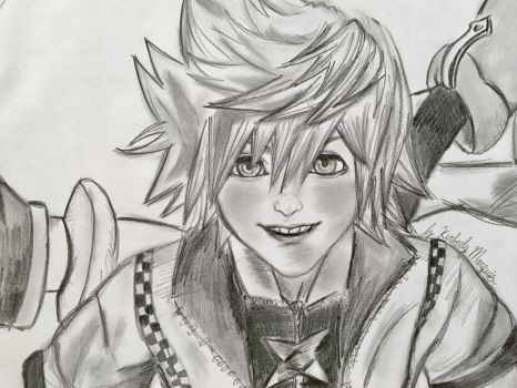 Roxas and the Pals by kirstenmarquisart