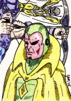 Avengers Group Sketch Card by jamsketchbook
