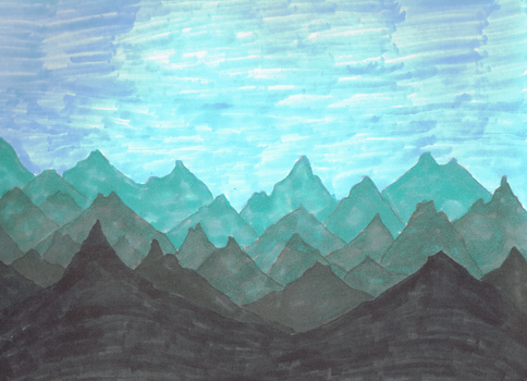 Mountain Scape by DRYeisleyCreations