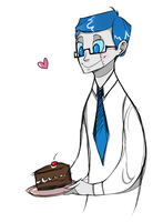 No cake for you. It's for me. by WheatPodlaska