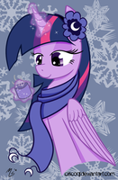A night at Princess Luna's Winter Castle by CiscoQL