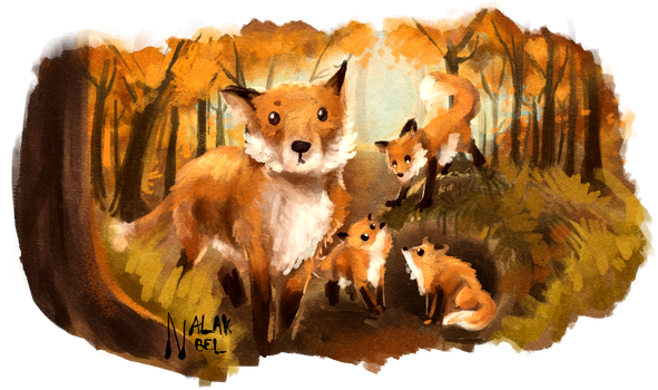 Fox Mother by Nalak-Bel