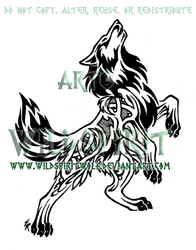 Nordic Flame Wolf Design by WildSpiritWolf