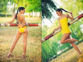 Yellow by platen