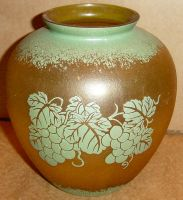 Amber Glass Grapes Vase Prop by FantasyStock