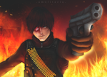 this Deadshot's on fire by Amolitacia