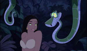 Kaa and Messua (Kissofthesnake) by DrPepperMantra