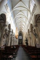 Cathedral of St. Michael and St. Gudula - inside by Lissou-photography