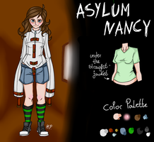 Asylum Nancy (Creepypasta OC ref.) by MikuParanormal