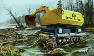 TESH-driven amphibian excovator 1 by Dlordtesh