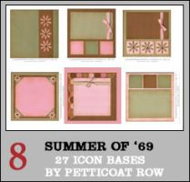 Summer of '69 Icon Bases by petticoatrow
