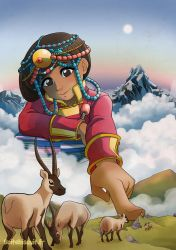 Roof of the world by Bisc-chan