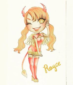 Watercolor Painting of Chibi Royce by MikaLinCow