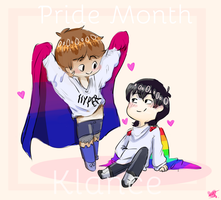 Klance with flags by DoglessHamster