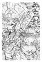 Cover pencil roughs by Sonion