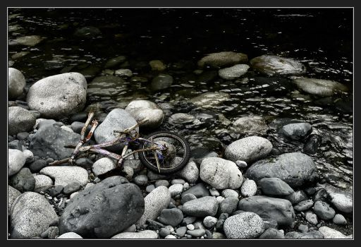 punctured bicycle... by depleted