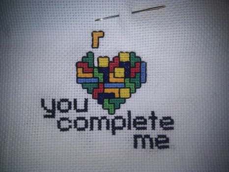 Love tetris cross sticht by phampyk
