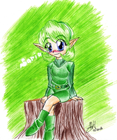 Sage of the Forest- Saria by ColeyCannoli