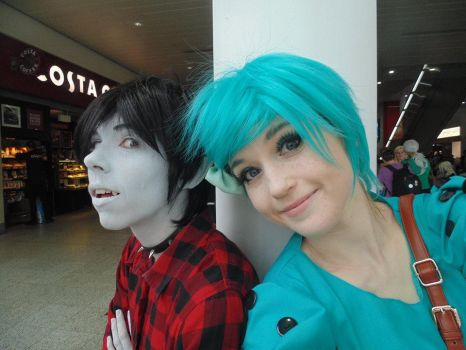 Marshall Lee and BMO by IdiotsInWigs