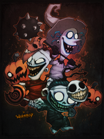 FIENDS OF HALLOWEENTOWN by WORMBOYx