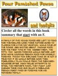 Four Famished Foxes and Fosdyke book summary by dabbycats