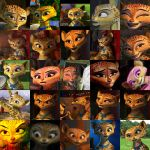 Gia Madagascar 3 Collage by bassplayerfromnj