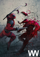 Deadpool v Carnage by waLek05