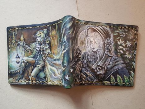 Bloodborne Maria leather wallet 3 by Bubblypies